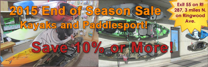 2015 Kayak amd Paddlesport end of season sale
