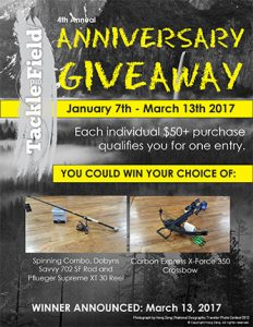 Tackle and Field's Anniversary Giveaway