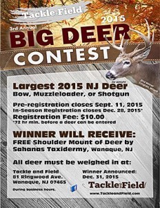 Big Deer Contest Judged September 11th