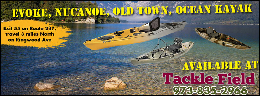 Evoke Kayaks, NuCanoe Kayaks, Old Town Kayaks and Ocean Kayaks are now available