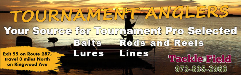 Tournament angler selected fishing baits, lures, rods and reals and gear.