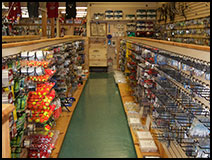 Fishing supplies including rods, reels and accessories