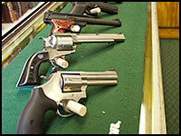 New and used handguns from brands such as Glock