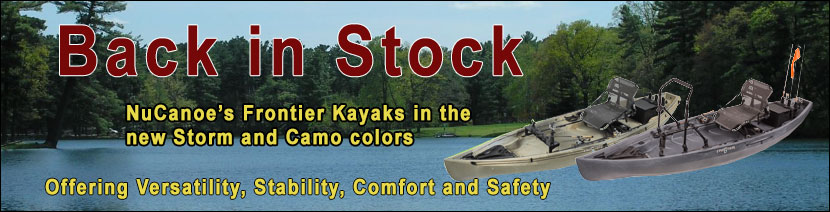 NuCanoe Frontier Kayaks 10 ft and 12 ft in Camo and Storm Colors