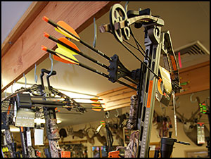 Full line of Mathews, Mission,  Bowtech, Carbon Express and Parker bows  and crossbows.