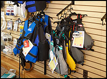 Personal safety supplies such as pfd's