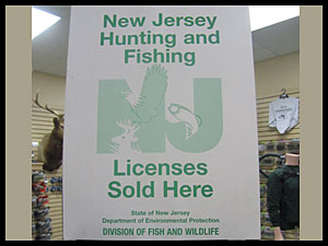 Authorized Nj hunting and fishing licenses
