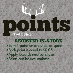 Tackle and Field Reward Points Program