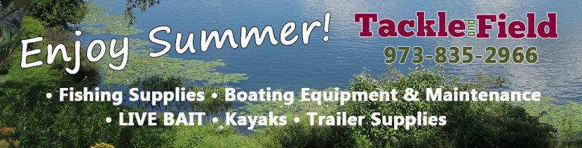 Live bait, fishing gear, kayaks, boating